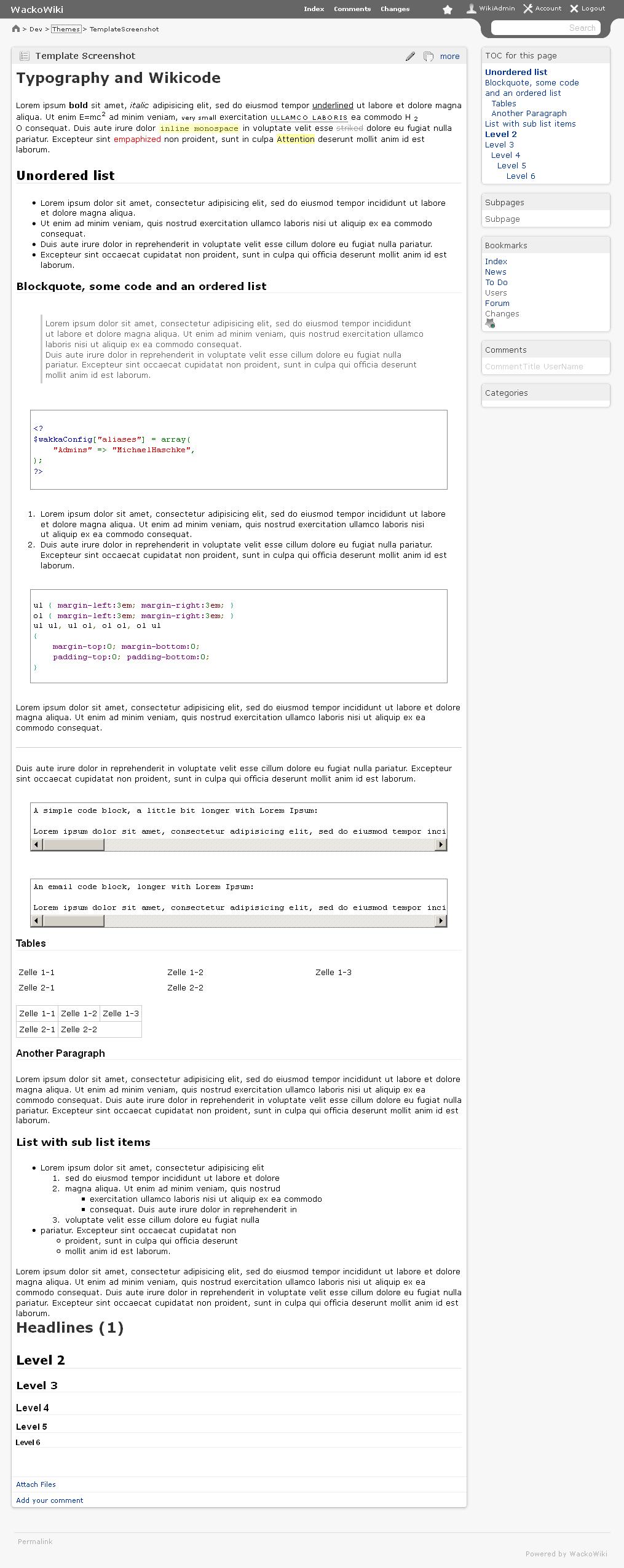 Nifty theme (large screenshot)
