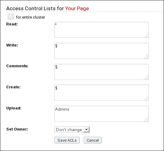page permissions handler