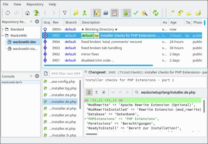 TortoiseHg clone repository Step 4